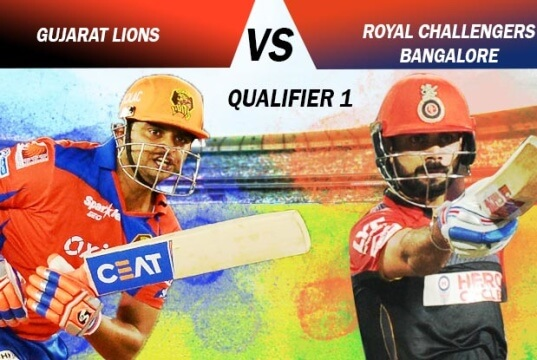 Gujarat Lions Vs Royal Challengers Bangalore: (Qualifier 1)