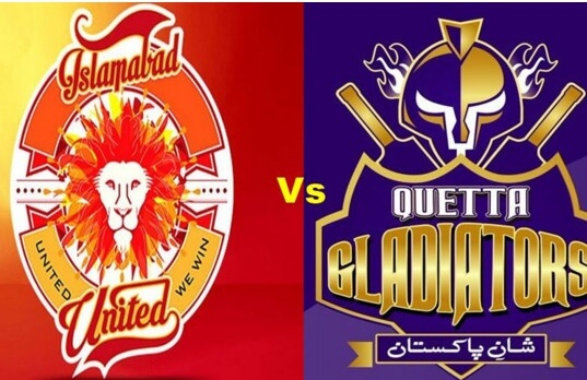 quetta Gladiators vs Islamabad United