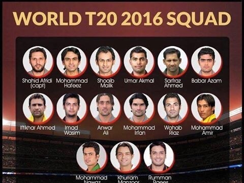 Pakistan Squad For T20 World Cup 2016